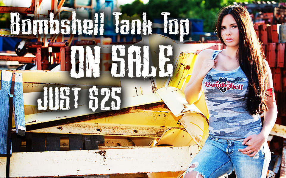 Bombshell Tank Top on Sale!